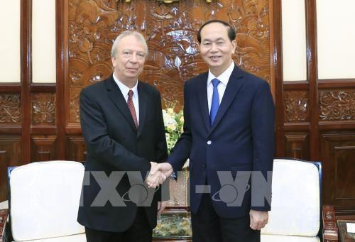 Le president Tran Dai Quang recoit l'ambassadeur bulgare hinh anh 1