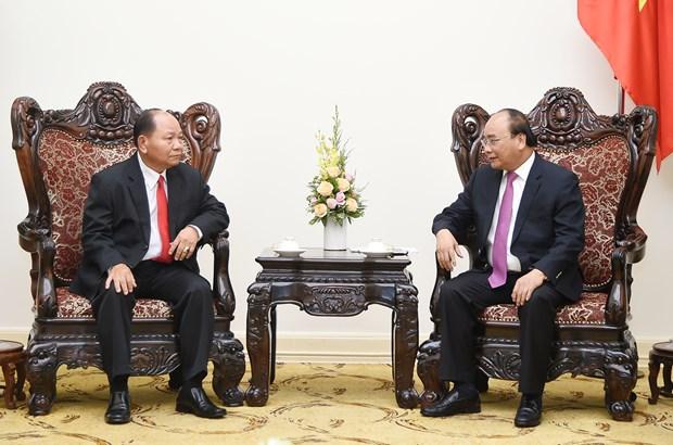Nguyen Xuan Phuc recoit le ministre laotien de l'Interieur hinh anh 1