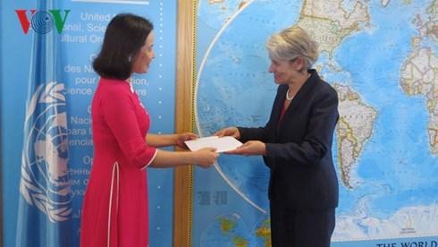 Irina Bokova salue le developpement des relations UNESCO - Vietnam hinh anh 1