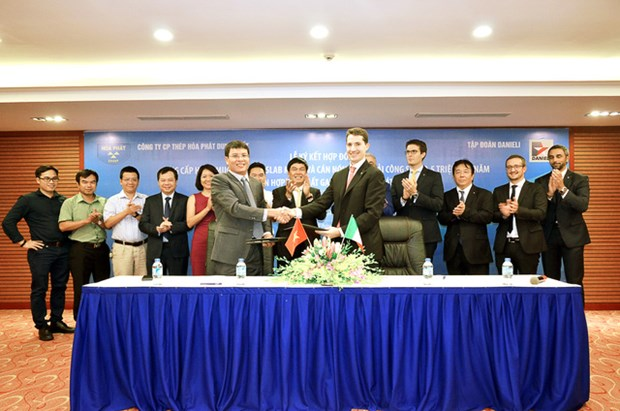 Siderurgie : Hoa Phat Dung Quat signe un contrat avec Danieli hinh anh 1