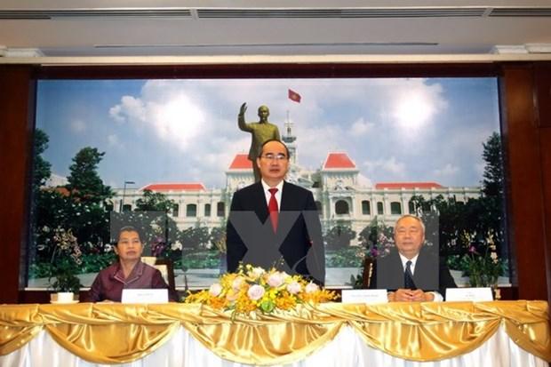 HCM-Ville contribue activement aux liens Vietnam-Cambodge hinh anh 1