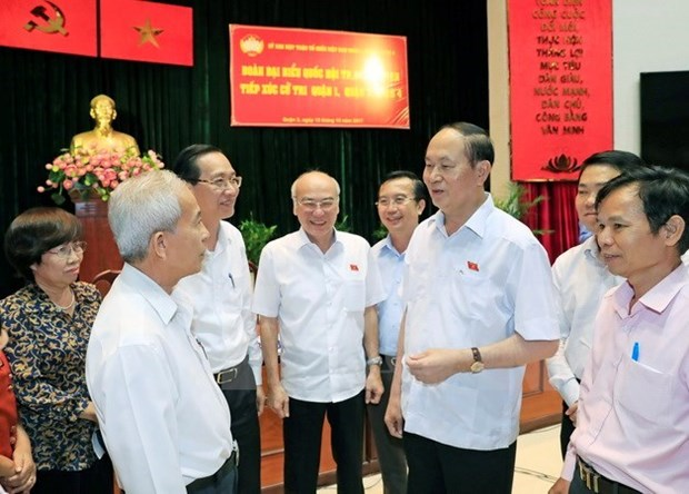 Le president Tran Dai Quang affirme la poursuite des efforts de lutte contre la corruption hinh anh 1