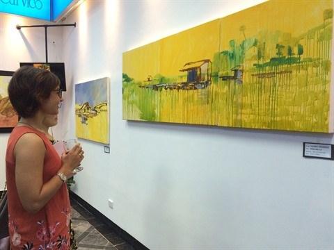 Une exposition d'art «vietnamo-italienne» a Hanoi hinh anh 1