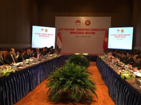 Conference ministerielle sur les liens economique Vietnam-Singapour hinh anh 1