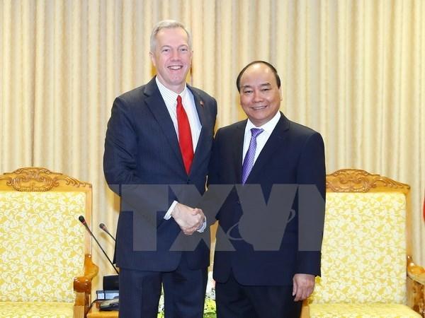 Le Premier ministre Nguyen Xuan Phuc recoit l'ambassadeur americain hinh anh 1
