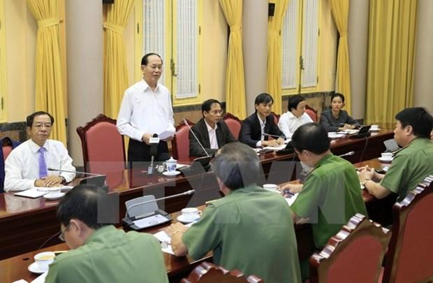 APEC: le chef de l'Etat demande d'assurer absolument la securite de la Semaine de haut rang hinh anh 1