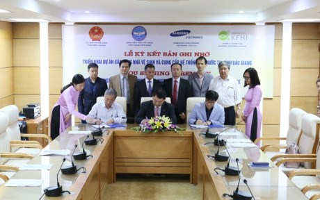 Samsung finance un projet d'hygiene scolaire a Bac Giang hinh anh 1