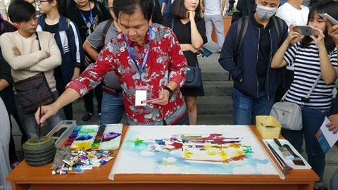 Exposition internationale d'aquarelles a Hanoi hinh anh 2