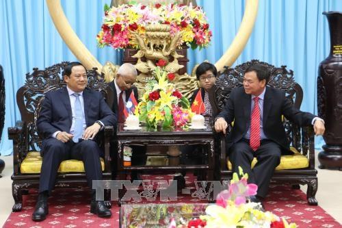 Ben Tre accueille le vice-PM laotien Sonexay Siphandone hinh anh 1