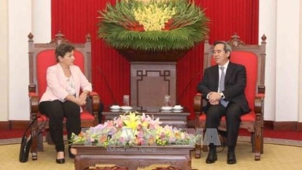 La chef de la Mission 2020 sur la reponse aux changements climatiques recu a Hanoi hinh anh 1