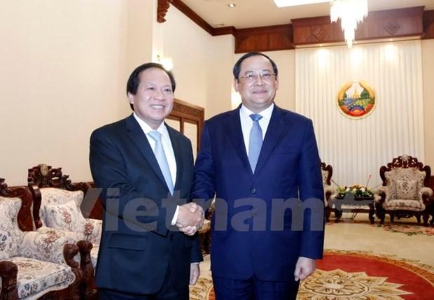 Vietnam-Laos : renforcement de la cooperation dans l'information et la communication hinh anh 1