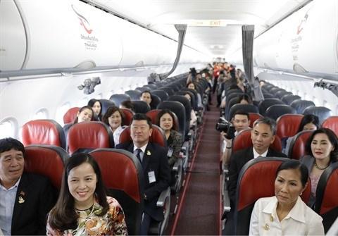 Vietjet Thailande lance son nouvel avion portant le logo 