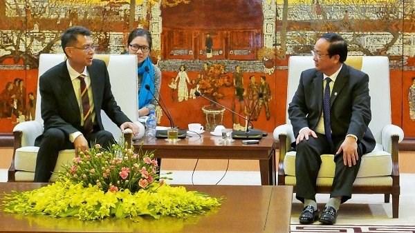 Singapour et Hanoi veulent cooperer dans la gestion intelligente des eaux hinh anh 1