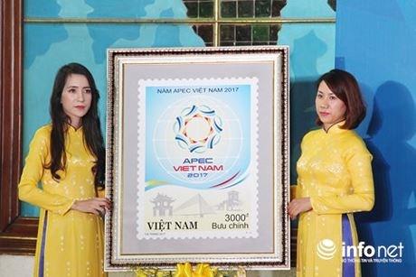 Diffusion d'une collection de timbres saluant l'Annee de l'APEC Vietnam 2017 hinh anh 2