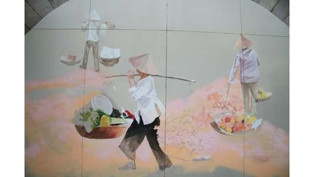 « Souvenirs de Hanoi » sur les voutes du viaduc de la rue Phung Hung hinh anh 1