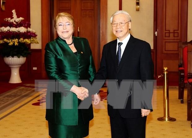 Le Vietnam souhaite stimuler les relations de cooperation multiforme avec le Chili hinh anh 1
