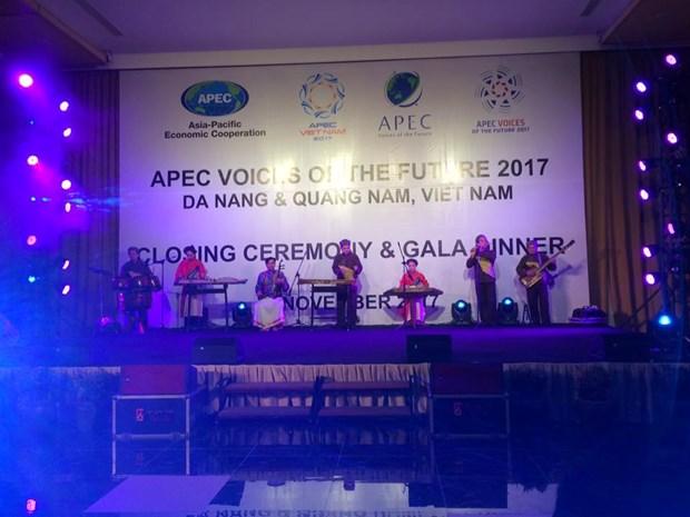 APEC 2017 : cloture du forum Voix du Futur de l'APEC 2017 a Quang Nam hinh anh 2