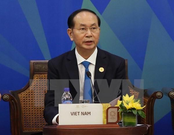 APEC 2017: le president vietnamien participe au dialogue de l'APEC-ABAC hinh anh 1