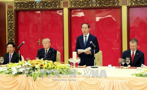 Un banquet d'Etat en l'honneur du president americain Donald Trump hinh anh 1