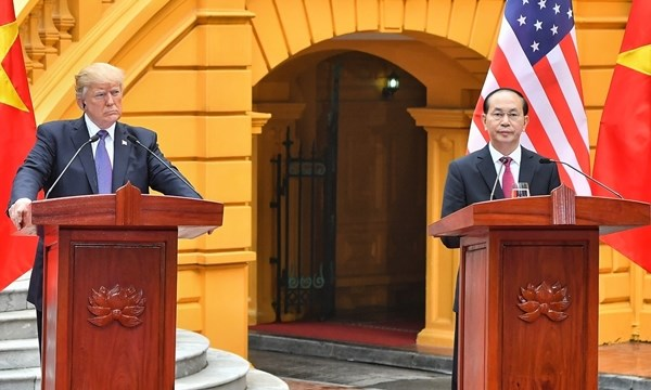 Conference de presse sur l'entretien Tran Dai Quang-Donald Trump hinh anh 1