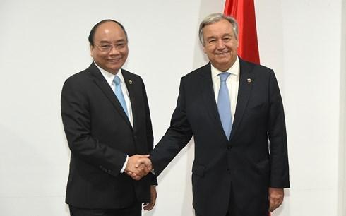 Renforcement des relations avec l'ONU et l'UE hinh anh 1