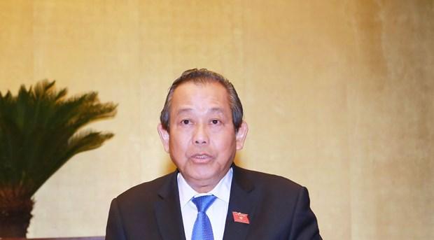 Le vice-PM permanent Truong Hoa Binh en visite en Republique de Coree hinh anh 1