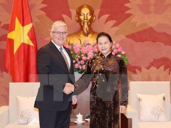 La presidente de l'AN recoit l'ambassadeur d'Australie hinh anh 1