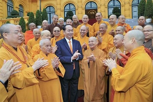 Le president Tran Dai Quang salue le succes du Congres national de l'EBV hinh anh 1