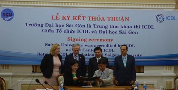 L'Universite de Sai Gon reconnue comme le premier centre de l'ICDL hinh anh 1