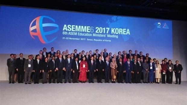 Le Vietnam a la 6e reunion des ministres de l'Education du Dialogue Asie-Europe hinh anh 1