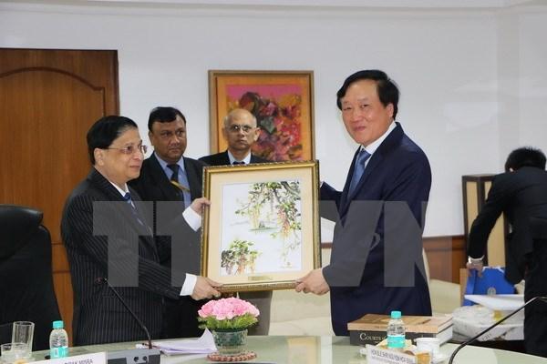 Le president de la Cour populaire supreme en visite en Inde hinh anh 1