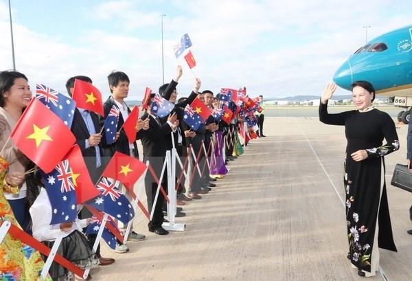 La presidente de l'AN Nguyen Thi Kim Ngan entame sa visite officielle en Australie hinh anh 1