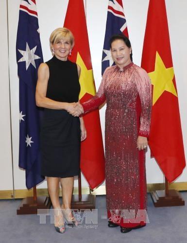 La presidente de l'AN Nguyen Thi Kim Ngan rencontre la ministre australienne des AE hinh anh 1