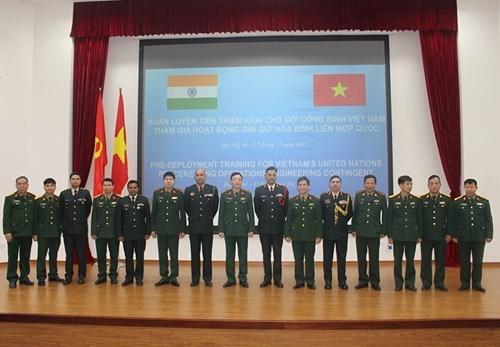 L'Inde aide le Vietnam dans les operations de maintien de la paix hinh anh 1