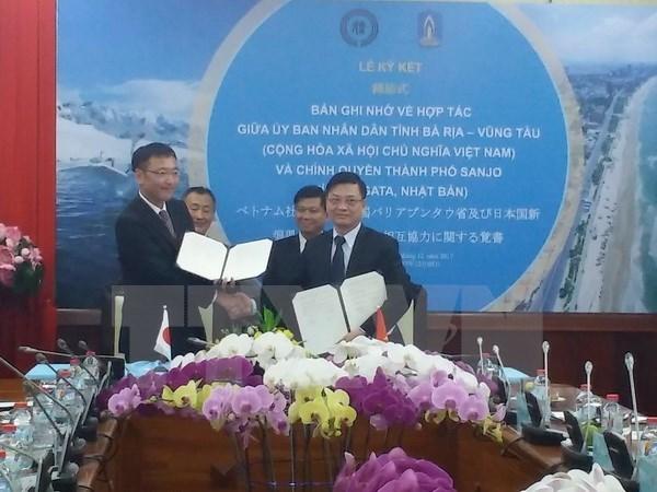 Intensifier la cooperation entre Ba Ria-Vung Tau et la ville japonaise de Sanjo hinh anh 1