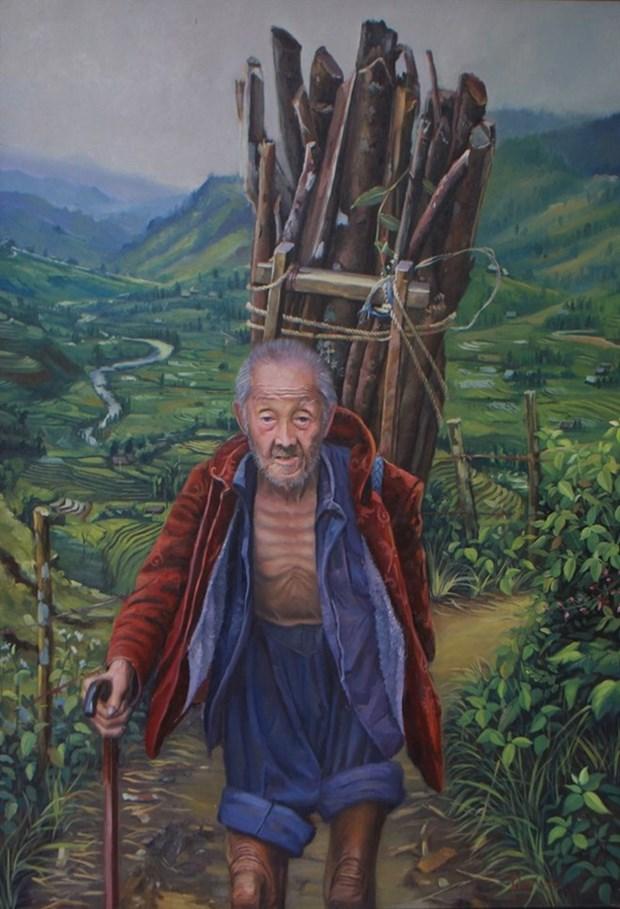 Une exposition a Da Nang pour honorer les beaux-arts du Vietnam hinh anh 1