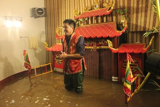 Hanoi possede deux scenes de marionnettes sur l'eau en miniature hinh anh 1