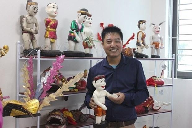 Hanoi possede deux scenes de marionnettes sur l'eau en miniature hinh anh 2