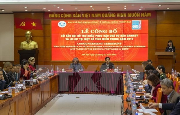 Typhon Damrey : le Vietnam appelle a plus de soutien en faveur des sinistres hinh anh 1