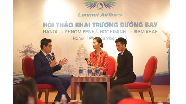 Ouverture de deux nouvelles lignes aeriennes Phnom Penh-Hanoi et Siem Reap-Ho Chi Minh-Ville hinh anh 1