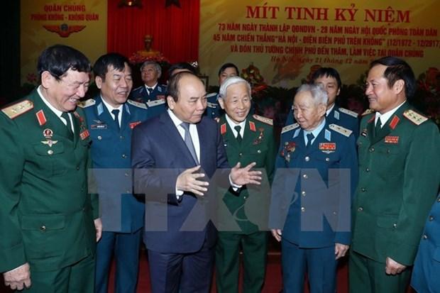 Le PM demande une modernisation rapide de l'Armee de l'air et de la defense anti-aerienne hinh anh 1