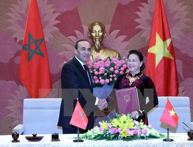 Le president de la Chambre des representants du Maroc termine sa visite au Vietnam hinh anh 1