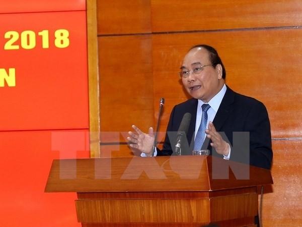 Le Premier ministre fixe l'objectif de croissance a 6,7% en 2018 hinh anh 1