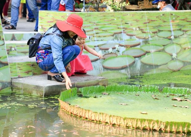 La pagode abritant une sorte de lotus geant dans le delta du Mekong hinh anh 3