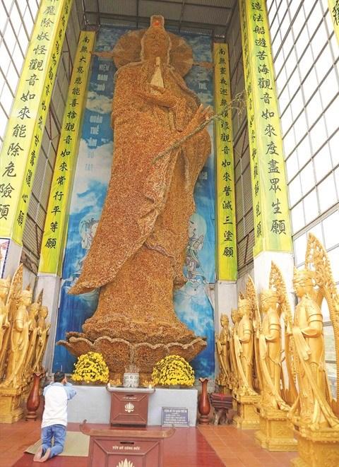 Une statue de Guan Yin etablit un record du monde hinh anh 1