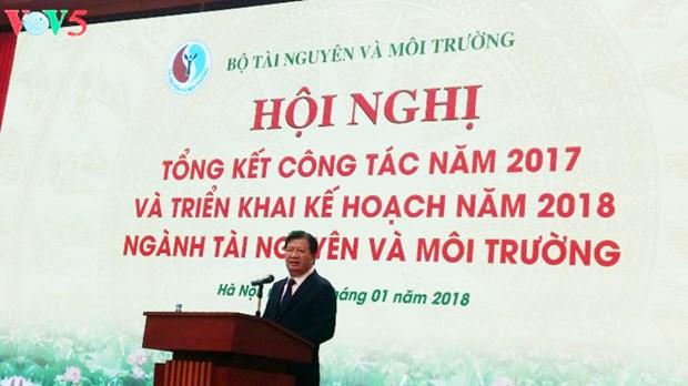 Conference-bilan du ministere des Ressources naturelles et de l'Environnement de 2017 hinh anh 1