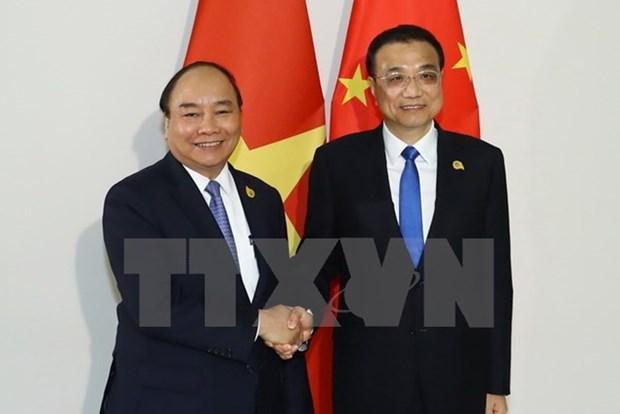 Le Premier ministre rencontre son homologue chinois a Phnom Penh hinh anh 1