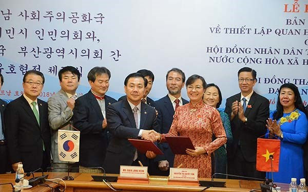 Ho Chi Minh-Ville et Pusan intensifient leurs relations d'amitie et de cooperation hinh anh 1