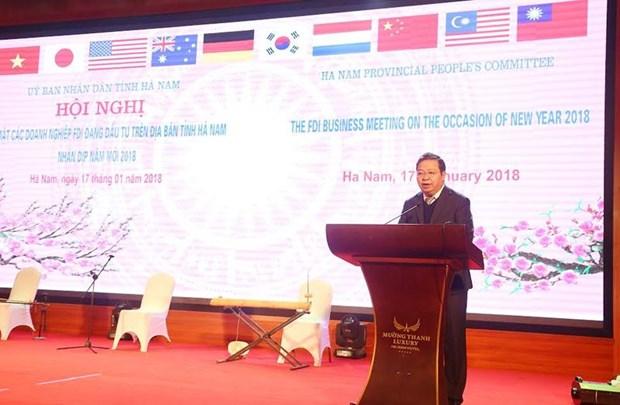 Ha Nam cree des conditions optimales pour les investisseurs etrangers hinh anh 1
