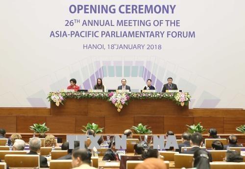 Ouverture de la 26e conference annuelle du Forum parlementaire Asie-Pacifique hinh anh 1